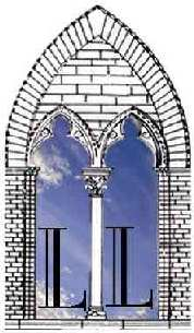 The Logo of the Institute is represented by a medieval mullioned window behind a clear sky with it two letter L on it, standing for the initials of the name